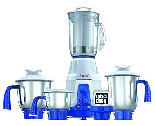 Prestige Deluxe Plus VS (750 Watt) Mixer Grinder with 3 Stainless Steel Jar + 1 Mix-o-Keep Jar+1 Juice Extractor