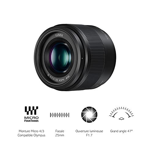 Panasonic Lumix DMC-G81MEG-K Systemkamera (7,5 cm Touch, schwarz) & H-H025E LUMIX G Festbrennweiten 25 mm F1.7 ASPH. Objektiv (Bildwinkel 47°, Filtergröße 46 mm, Naheinstellgrenze 0,25 m) schwarz
