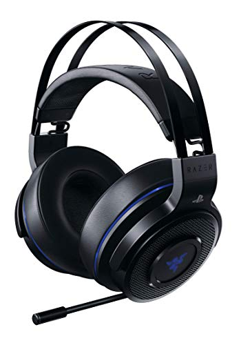 Razer Thresher 7.1 Cuffie da Gioco, Dolby 7.1 Surround Sound Tramite Ingresso Ottico, Connessione Wireless senza Ritardi, Microfono Digitale Retrattile, Funziona con PC e PS4