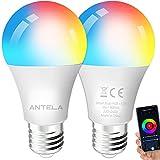 Lampadina Alexa ANTELA, Inteligente WiFi LED Bulb E27, Dimmerabile Lampadina Smart 9W 806ML 80W...