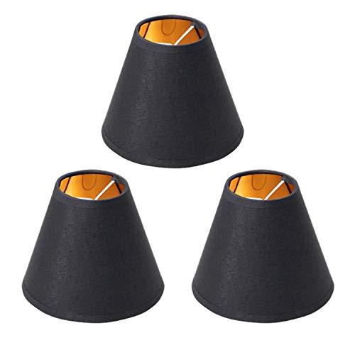 Suading Juego de 3 lámparas pequeñas con clip para candelabros de mesa, lámpara de pared