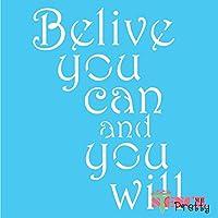 モチベーションを高めるステンシル - Believe You Can DIY 飾り Multipack (S, M, L) SMP-JN91-S-M-L