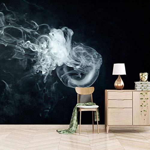 Dsromhgqi mural de papel pintado 450x300cm Blanco humo negro