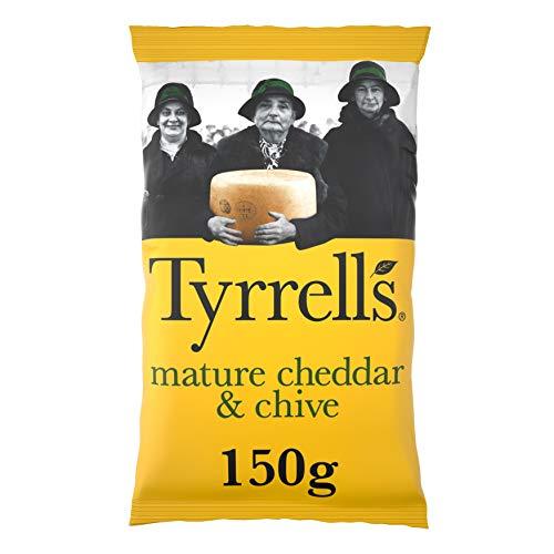 Tyrrells Handcooked Crisps Cheddar & Chive, 150g