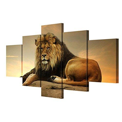 HJXJXJX Toile Photos moderne Art mural Roi Lion Affiche HD Imprimer Salon Peinture murale décorative (Multi-taille en option) , With Borders , SizeA