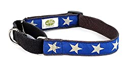 Earthdog Martingale Hemp Dog Collar, Star Pattern