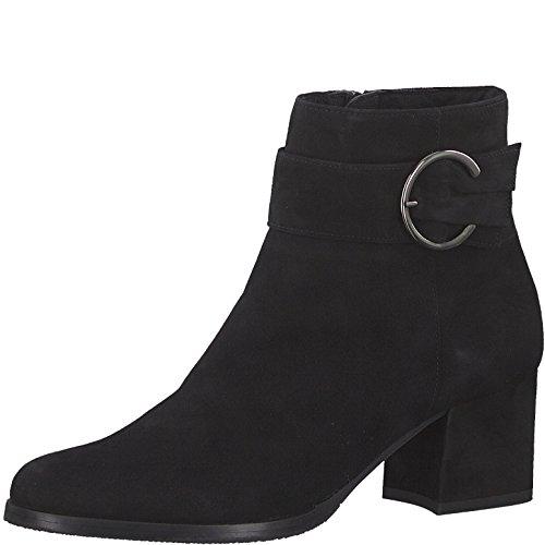 Tamaris Damen Stiefelette 25379-21,Frauen Stiefel,Boot,Halbstiefel,Damenstiefelette,Bootie,Reißverschluss,Blockabsatz 5.5cm,Black,EU 37