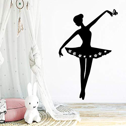 Dibujos animados bailarina pegatinas de pared pegatinas decorativas decoración de la sala de estar pegatinas de pared decorativas a prueba de agua A5 57x87cm
