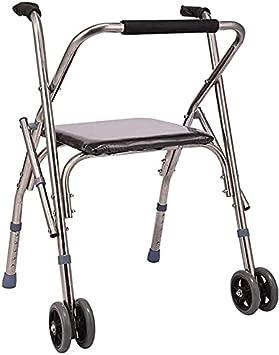 Andador Rollator Walker para personas mayores y adultos con ruedas y asiento ajustable, silla para caminar, reposabrazos ajustable para personas mayores (color predeterminado)
