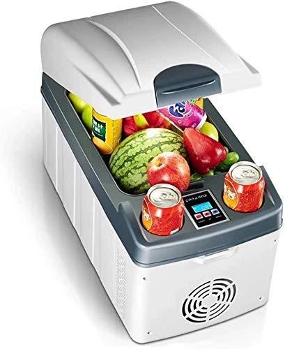 BATOWE 20L del Coche Mini refrigerador Horizontal de Doble núcleo rápido enfriamiento de calefacción Puede congelar Inicio Refrigeración Digital Display Blanca