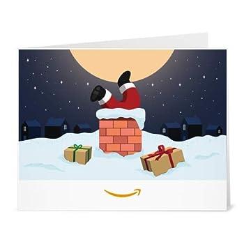 Amazon Gift Card - Print - Santa In Chimney
