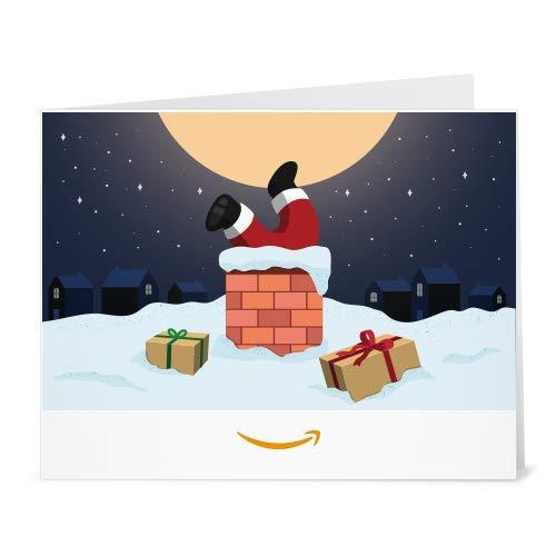 Amazon.de Gutschein zum Drucken (Weihnachtsmann im Kamin)