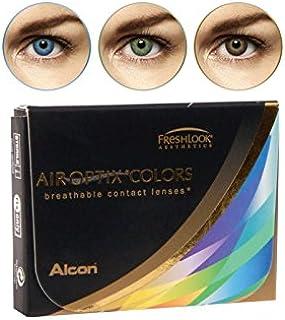 Air Optix Aqua Color 10096054 Lentes de Contacto, R 8.6, D 14.2, Dioptría 4.5, Color Verde - 2 Unidades
