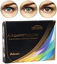 Air Optix Aqua Color 10096202 Lentes de Contacto, R 8.6, D 14.2, Dioptría 0, Color Gris - 2 Unidades