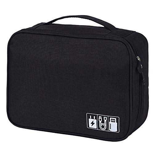MJuan-Clothing Daily Necessities Storage Adjustable Electronic Storage Bag Waterproof Polyester Data Cable Classification Storage Bag Multifunctional Digital Bag