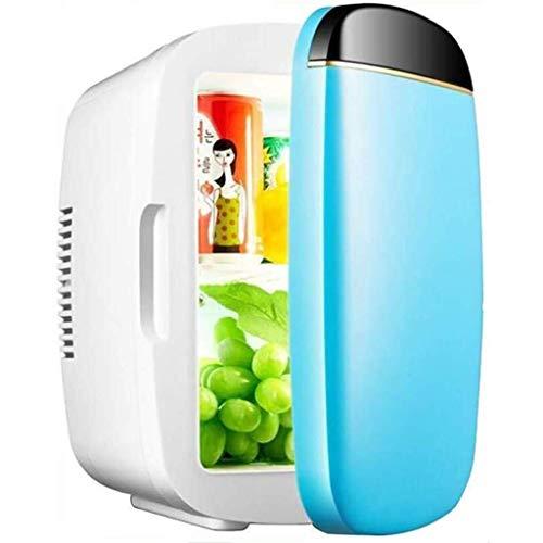 Draagbare koelkast, stille desktop minibar elektrische koelbox 6L autokoelkast mini verwarming en koeling auto en huis Compact Mini met laag geluidsniveau (kleur: B)