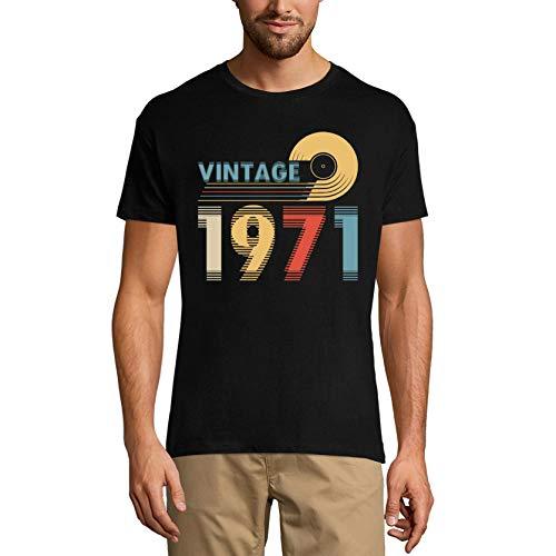Ultrabasic Camiseta para hombre Vintage 1971 – Retro Blurry 50 cumpleaños regalo camiseta - negro - X-Large