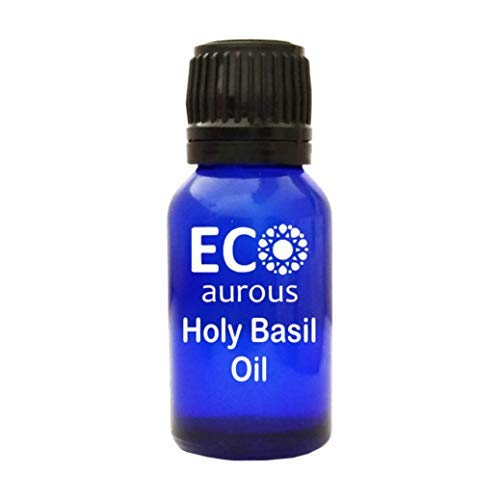 Holy Basil Oil 100% Natural, Organic, Vegan & Cruelty Free, Essential Oil | Pure Holy Basil Oil By Eco Aurous (10 ml)