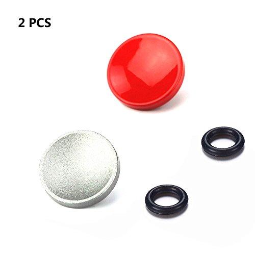 LXH 2 Pcs (Rot + Silber) Kamera Konkav weich Metall Auslöser Messing für Fujifilm XT20/10 X100F X-T2 X100T X-PRO1/2 X100S X10/20/30 Leica M-Serie Olympus PEN-F