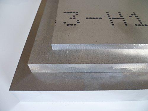 B&T Metall Aluminium Platte blank gewalzt natur | 40,0mm stark | Größe 100 x 350 mm (10 x 35 cm)