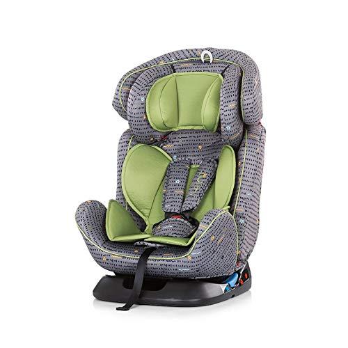 Chipolino Kindersitz 4 in 1 Gruppe 0+/1, 2, 3 (0-36 kg), vielfach verstellbar, Farbe:grün