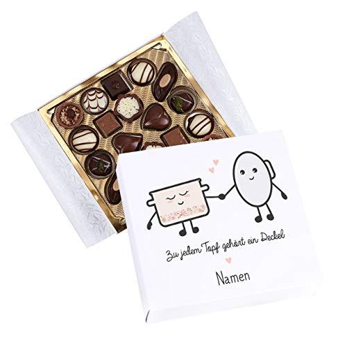 Herz & Heim® Lindt Mini-Pralinés mit Banderole - Zu jedem Topf gehört ein Deckel - mit euren Namen