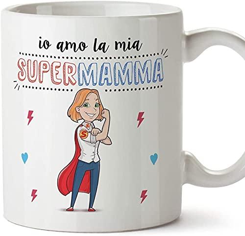 Taza Mamma Super Héroe Mejores del Mundo - Ideas de regalos originales para el día de la familia