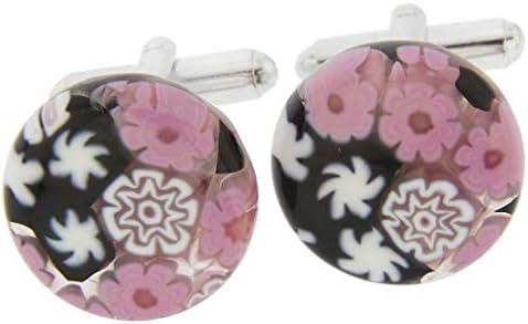 GlassOfVenice Millefiori - Gemelos de Cristal de Murano, Color Rosa