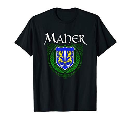 Maher Surname Irish Last Name Maher family crest T-shirt