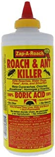 Zap-A-Roach Boric Acid Roach and Ant Killer – Odorless and Non-Staining – 1 LB