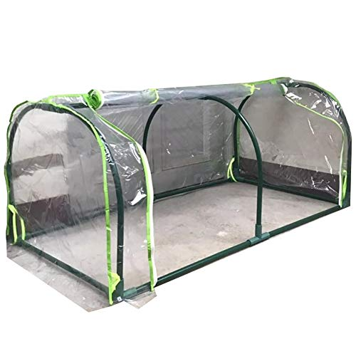 LQQ Balcony Garden Tunnel Greenhouse, Transparent Plastic Succulent Plant Flower Hot House, Winter Outdoor Plants Hot Growhouse