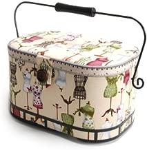 Dritz St. Jane Sewing Basket, Large Oval (metal handle)