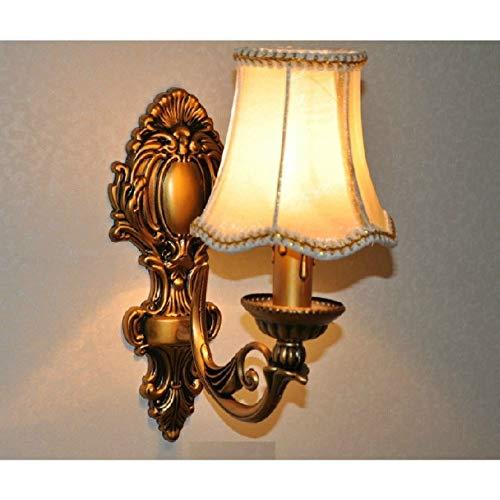 TYOLOMZ stoffen lampenkap brons wandlamp klassieke kaarsenhouder ontwerp gang decoratie LED E14 lamp