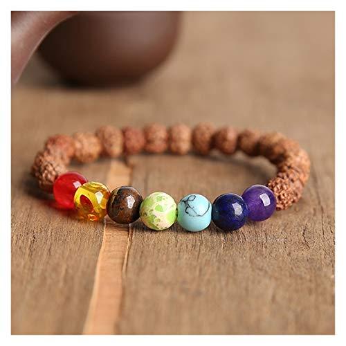 ZNYD La oración Pulseras Bodhi de los Granos de los Hombres de la meditación Mala Granos cristalinos joyería de Las Pulseras Pulsera de oración tibetana Chakras (Color : 23cm, Talla : 14)
