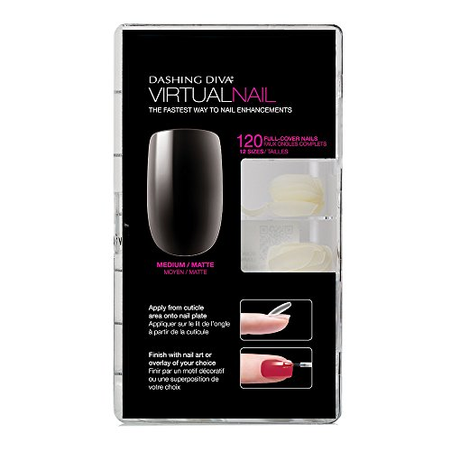 Dashing Diva Virtual Nails Clear, 120 Count by Dashing Diva