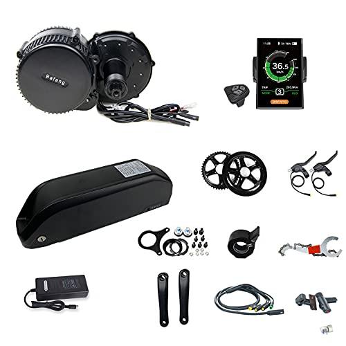 Bafang BB02B Motore Centrale da 750 W per MTB Road Bike City Bike Kit Bici elettrica Kit di conversione con Batteria agli ioni di Litio da 48 V 17.5ah(Motore di azionamento 48V750W con C18 44T)