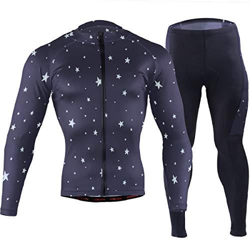 DEZIRO Night Sky and Stars - Maillot de Ciclismo para Ropa Deportiva,...