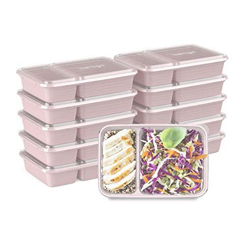 Bentgo Prep 2-Compartment Meal-Prep Containers with Custom-Fit Lids