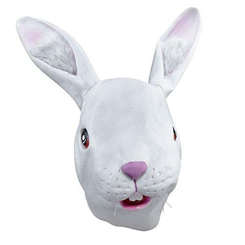 Maschera da coniglio bianco in gomma