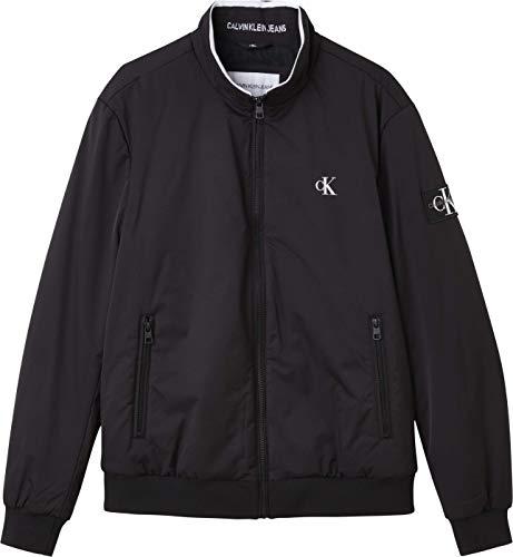 Calvin Klein Jeans Men's Nylon Harrington Jacket, Ck Black, XL