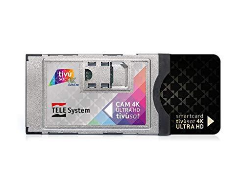 Aktiviert!!!!! Telesystem 4K Tivusat CI+ Smarcam 4K Ultra HD inklusive Black Smartcard