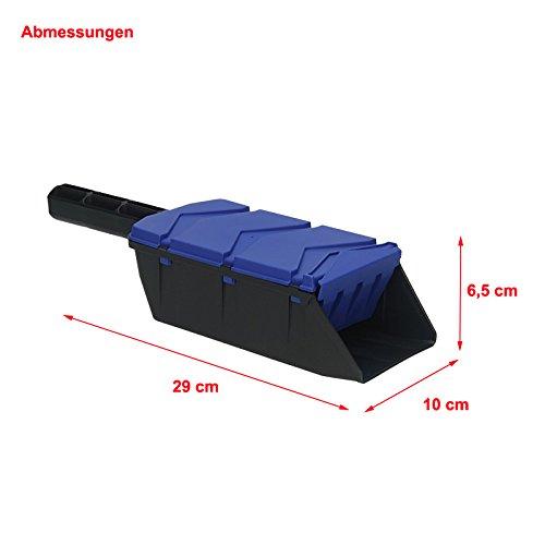 Streuschaufel blau Streusalz Streuer Sand Samen Düngerstreuer Schaufel Handstreuer;;;;; - 2
