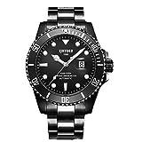 KINYUED ウォーターゴーストシリーズ クラシック ラグジュアリー メンズ 自動腕時計 ステンレススチール 防水 機械式腕時計 42mm ブラック