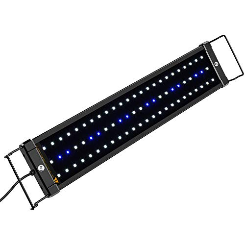 NICREW ClassicLED Aquarium Light, Fish Tank Light with Extendable Brackets, White and Blue LEDs, Size 18 to 24 Inch, 11 Watts