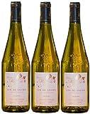 Vin de Savoie blanc sec jacquère, 2019 AOP Récoltant, 3 bouteilles de 75cl.