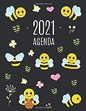 Ape Agenda 2021: Agenda di 12 Mesi con Calendario 2021 | Pianificatore Giornaliera