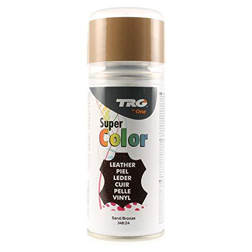 TRG The One - Tinte en Spray para calzado de Piel y Piel Sintética   Ideal para Restaurar o cambiar el color de Zapatos de Piel   Super Color #348 Arena, 150ml
