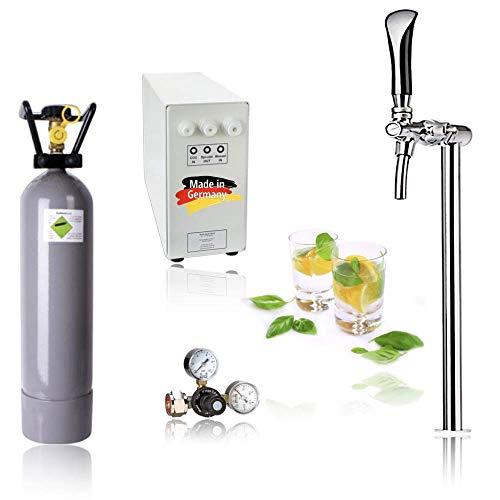 SPRUDELUX® Untertisch-Trinkwassersystem - Trinkwassersprudler Sprudel-Lok - NEUHEIT! inkl. Tesoro Edelstahl verchromt Zapfhahn mit Kompensator mit und ohne 2 Kg CO2 Flasche (Ohne CO2 Flasche)