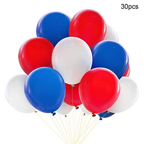 habbuy Rood Wit en Blauw Tri-Color Latex Ballon Pak Party Kamer Decoratie Ballon 30 stks