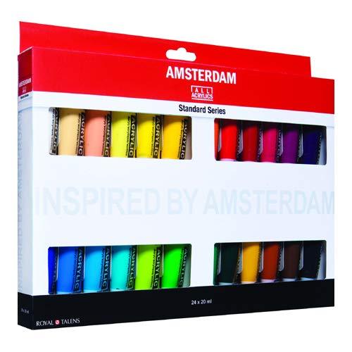 Royal Talens Amsterdam - Tubetti standard in acrilico, 20 ml, set da 24 (100516105)